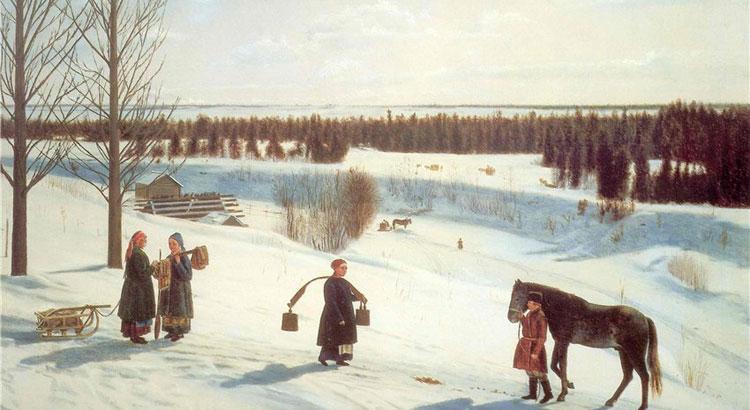 Крылов Н.С. Русская зима (1827)