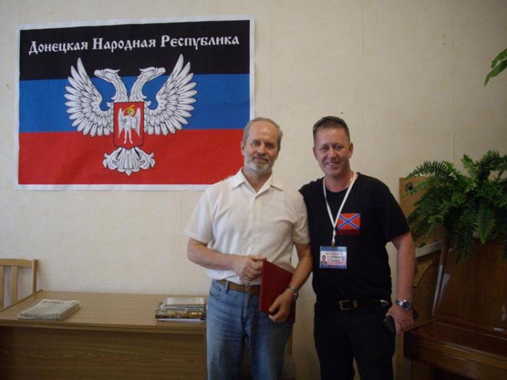 С директором музея Новороссии Питера Г. Владимировым